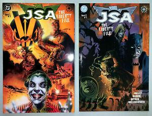 JSA THE LIBERTY FILES 2000 #1-2 COMPLETE SET LOT FULL RUN TONY HARRIS DC COMICS
