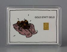 1 Gramm Gold 999,9 + Zertifikat ► 1g Feingoldbarren ► Gold statt Geld Geschenk