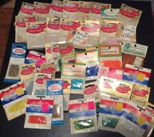 Vintage Bead Lot 40+ Packages Unopened Pearl Seed Rocaille