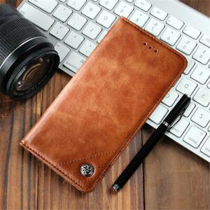 For LG V50 V40 V30 G7 G6 Luxury Slim Leather Flip Stand Card Wallet Case Cover