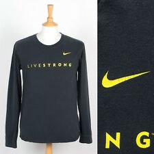 MENS NIKE LIVESTRONG LANCE ARMSTRONG T-SHIRT LONG SLEEVE CYCLING RACE S