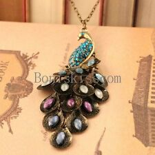 Retro Elegant Peacock Necklace Vintage Jewelry Ladies Womens Gifts