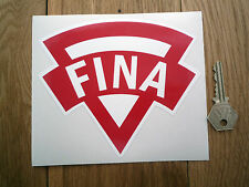 "FINA Old Style Shaped Petrol Can Sticker 6"" Car Gas Fuel Pump Classic Retro Oil"
