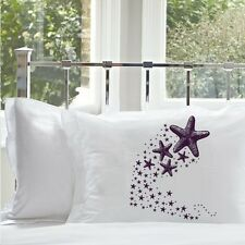 Two 2 Purple Shooting Star fish Starfish bedding pillowcase pillow cover