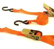 2x Ratsche Spanngurte 2.5cm X 4.6m Anhänger Lkw Dachträger Gepäck Krawatte