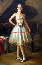 """24x36""""(61x92cm)100% hand painted oil flat,Dancing girl, Ballet, High Quality"""