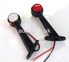 2 X 8 LED SIDE OUTLINE STALK MARKER LIGHTS LAMP TRAILER TRUCK 20CM 12V  A205
