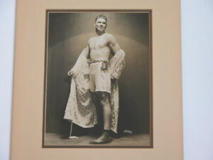 Vtg Jack Dempsey Boxer Heavyweight Champion Original Photograph Apeda N.Y. 2 #A