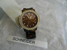 Premier Designs STYLE WATCH acrylic crystal gold watch rv $89 FREE ship nwt