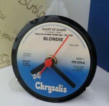 *new* BLONDIE (Debbie Harry) CLOCK actual VINYL RECORD CENTRE Desk / Side Table
