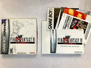 Final Fantasy VI Gameboy Advance: Box and Paperwork Only
