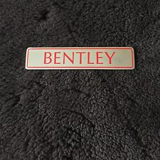 "Bentley 1989-97 Rear Chrome Boot Trunk Badge  ""Bentley"" Red Letters OEM UB43761"