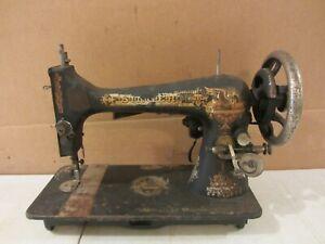 VTG ANTIQUE SPHINX 1905 MODEL 27 SINGER TREADLE SEWING MACHINE HEAD B1507895