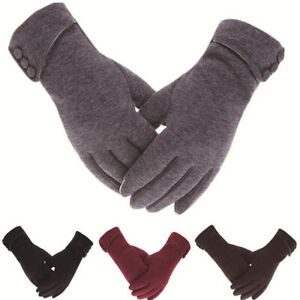 Winter Gloves Women Ladies Warm Thick Fleece Lined Thermal Finger Touch Screen