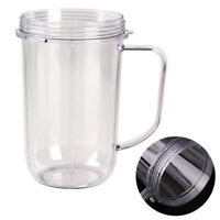 Replacement Juicer Cup Mug W/ Holder Handle Clear For Magic Bullet Blender