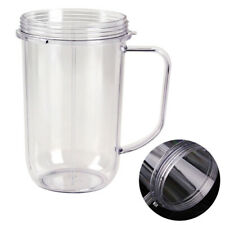 Replacement Juicer Cup Mug W/ Holder Handle Clear For 250W Magic Bullet Blender