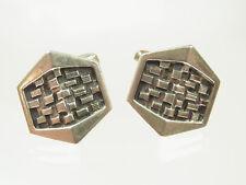 Schöne Designer Manschettenknöpfe 800 Silber Kettendesign 70 iger Jahre Stil