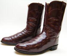 WOMENS JUSTIN 3068 ROPER BURGUNDY LEATHER COWBOY WESTERN BOOTS SZ 7.5~1/2 C