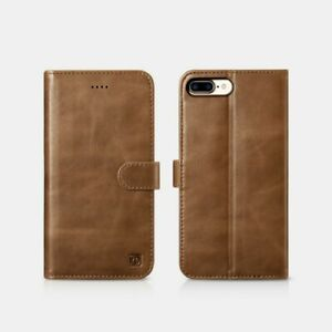 iPhone 7 Plus/iPhone 8 Plus Leather Case Real Detachable 2 IN 1 Brown