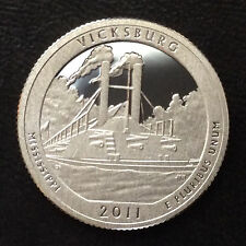 2011-S Washington Quarter Vicksburg MS Silver DCAM Proof U.S. Coin A5223