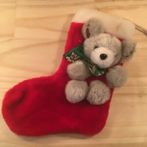 """SWEET MOUSE """"Red"""" Beautiful Faux Fur Christmas Stocking Festive Decoration"""