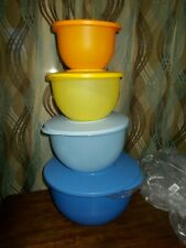NEW - TUPPERWARE CLASSIC IMPRESSIONS 4-BOWL Nesting Tower 5 10 18 32 cup SET