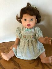 Brunette Playmate Toys Inc. Amazing Babies Interactive Doll/works/no access.