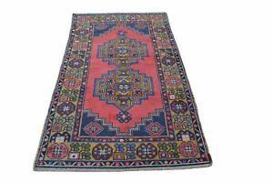 Turkey Vintage Rugs, Tapis Berber, Vintage Turkish Rug, Blue Rug, Persian Style