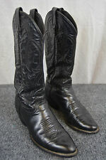 """Tony Lama 13"""" Black Pampas Leather Western Cowgirl Boots Ladies Size 6M  $123"""