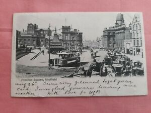 Early Sheffield post card, Fitzalan Square posted 26th August 1902.