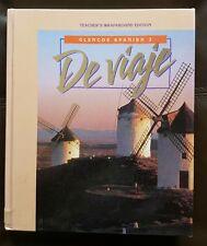 Glencoe Spanish 3 De viaje Teacher's wraparound edition 1995