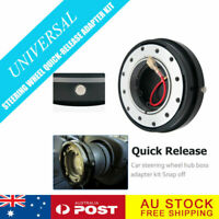 UNIVERSAL SLIM QUICK RELEASE TO FIT STEERING WHEEL AND HUB BOSS KIT BLACK AU