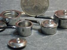 Dollhouse Miniature Metal Cookware Pots Pans 1:24 half scale G65 Dollys Gallery