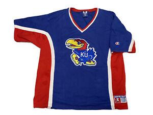 Vintage 90's Champion KU University Of Kansas JAYHAWKS Shooting Jersey Shirt XL