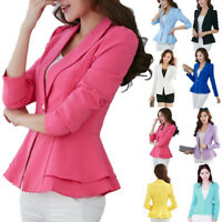 Women Slim OL Suit Casual Blazer Jacket Coat Tops Outwear Long Sleeve CHEAP SLIM