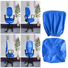 Waterproof PU Leather Stretch Office Rotating Armchair Chair Cover Slipcover