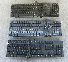 Job lot 3 x Dell 0j4632 0m377h Noir claviers USB UK mise en page