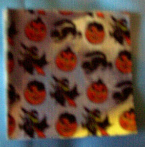 HALLOWEEN PRINT ON SILVER BACKGROUND CHOCOLATE FOIL WRAPPING - 50 sheets