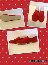 Red Dancing Canvas Shoes soft Flat soles