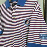 Vintage ASHWORTH x PINEHURST  Large 2005 US OPEN Mens Golf Polo Shirt Breathable