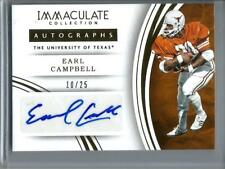 Earl Campbell 2016 Panini Immaculate Collection Autograph #10/25