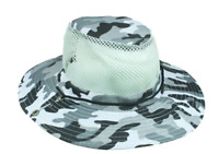GRAY Camouflage Summer HAT BEACH GARDENING FISHING HUNTING CAMO Hiking VENTED