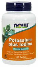 Now Foods Potassium Plus Iodine 180 Tabs, Healthy Thyroid Function