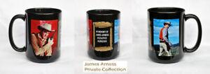 """James Arness Gunsmoke Marshal Dillon """"The Man Behind The Badge""""  Collector Mug"""