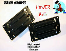 Aetec Power Rails High Output Fat Rail Humbuckers Black with Chrome  X2N Style