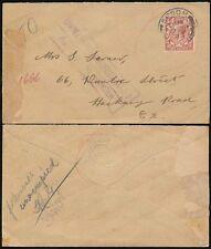 GB 1923 Epsom Long Grove hospital psiquiátrico.. LCC Perfin.. no entregados remitente de retorno