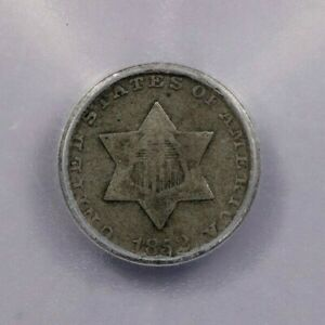 1852-P 1852 Three Cent Silver ICG VG8