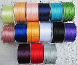 5 m Satinbändchen 0,22 € /m Schleifenband 6 mm  Doppelsatin Satinband Bastelband