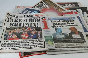Newspaper Collection Historic Moments inc. Millennium Obama Prince Andrew & More