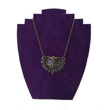 Bronze Chain Owl Pendant Necklace